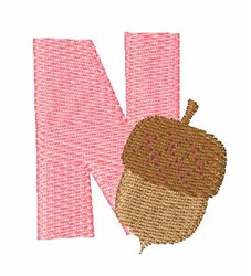 Food Font N embroidery design