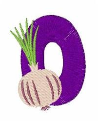 Food Font O embroidery design