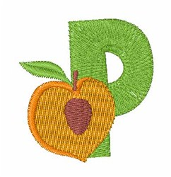 Food Font P embroidery design