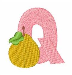 Food Font Q embroidery design
