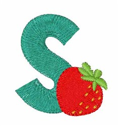Food Font S embroidery design