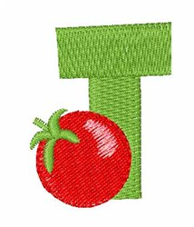 Food Font T embroidery design