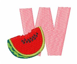 Food Font W embroidery design