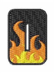 Blaze Font 0 embroidery design