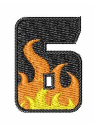 Blaze Font 6 embroidery design