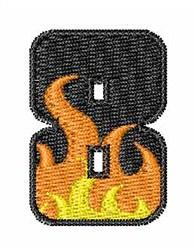 Blaze Font 8 embroidery design