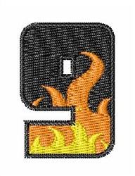 Blaze Font 9 embroidery design