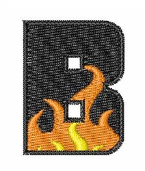 Blaze Font B embroidery design