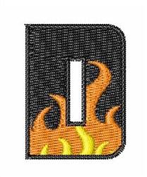 Blaze Font D embroidery design