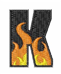Blaze Font K embroidery design