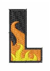 Blaze Font L embroidery design