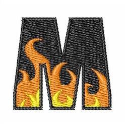 Blaze Font M embroidery design