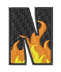 Blaze Font N embroidery design