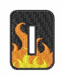 Blaze Font O embroidery design