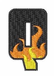 Blaze Font Q embroidery design