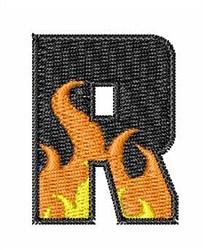 Blaze Font R embroidery design