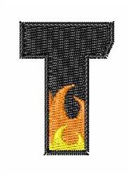 Blaze Font T embroidery design