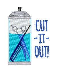 Cut It Out embroidery design