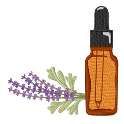 Lavender Oil embroidery design
