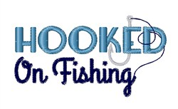 Fish Hook Catching Hobby embroidery design