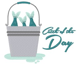 Catch Of The Day embroidery design