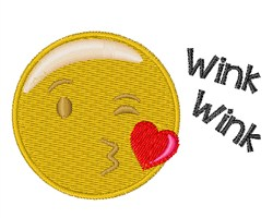 Wink Wink embroidery design