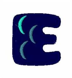 Fishy Font E embroidery design
