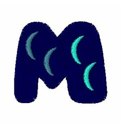Fishy Font M embroidery design