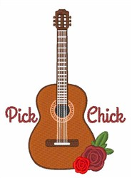 Pick Chick embroidery design