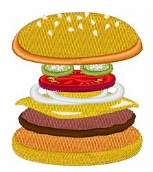 Cheeseburger embroidery design