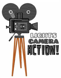 Camera Action embroidery design