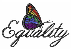 Equality embroidery design