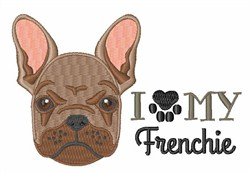 Love My Frenchie embroidery design