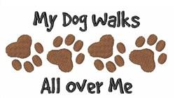 Dog Walks embroidery design