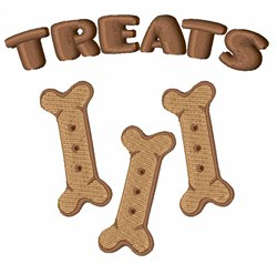 Treats embroidery design