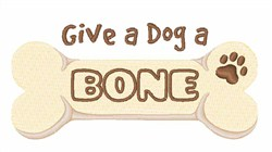 Give A Bone embroidery design