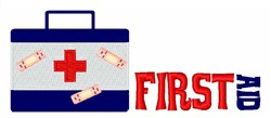 First Aid embroidery design
