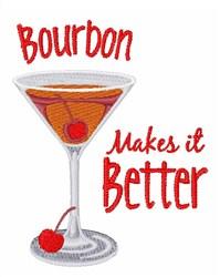 Bourbon Better embroidery design