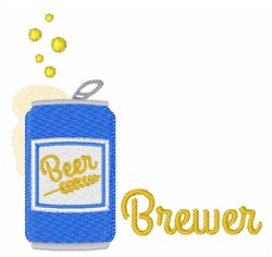Beer Brewer embroidery design