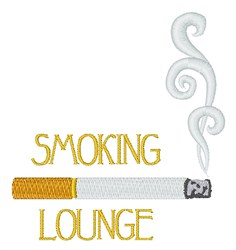 Smoking Lounge embroidery design