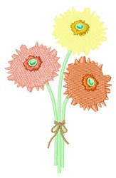 Pastel Flowers embroidery design