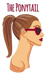 The Ponytail embroidery design