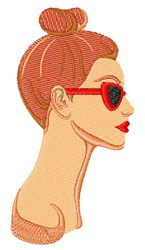 Top Knot Hair embroidery design
