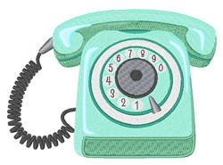 Rotary Telephone embroidery design