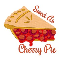 Sweet Cherry Pie embroidery design
