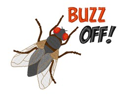 Buzz Off! embroidery design