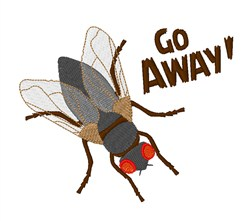Go Away! embroidery design