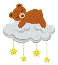Sleeping Teddy embroidery design