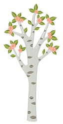 Spring Tree embroidery design