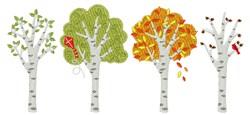 Four Season Trees embroidery design